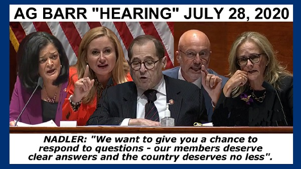 AG Bar hearing meme video documenting TDS on full display as each Dem member vents a tirade of accusations against Barr and Trump including violating the oath of office. brutalizing peaceful protesters and being responsible for the death of thousands of Americans from Coronavirus