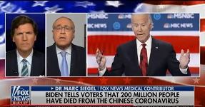 Tucker asks Dr. Marc Siegel for medical opinion for Biden's claiming Trump guilty for 200 million American deaths from coronavirus