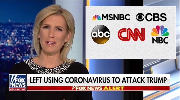 Ingraham Angle video - media blames Trump for corona virus