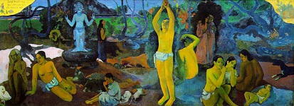 Where Do We Come From What Are We Where Are We Going - Paul Gaugin - Tahiti, 1897