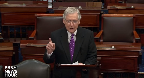 video - Sen. McConnell speech summary of senate impeachment trial Feb. 3, 2020