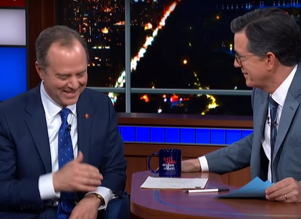 Schiff on Late Night comedy TV