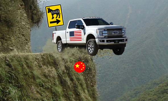 USA Heading Off Cliff Meme